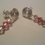 20120403 Wire and Swarovski Crystal Studs